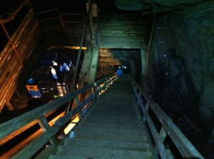 This shaft takes you 80m underground